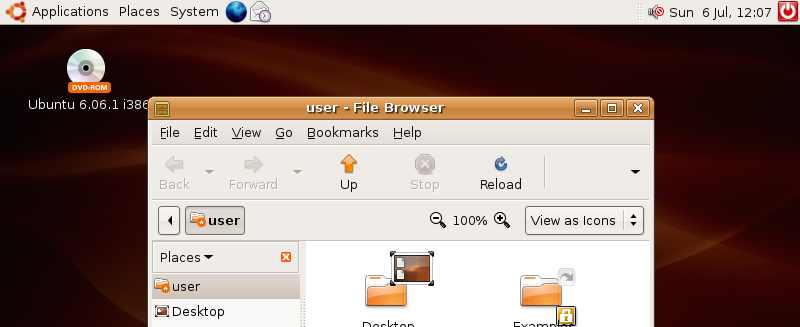 old ubuntu desktop