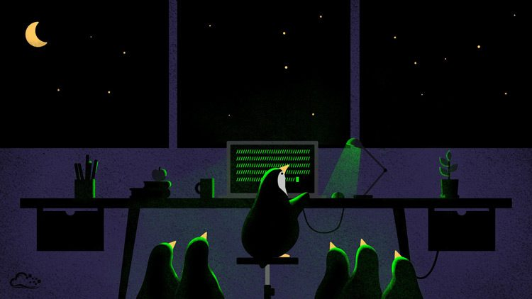 penguin linux wallpaper