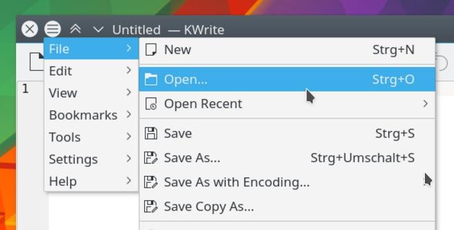 The KDE Menu Button