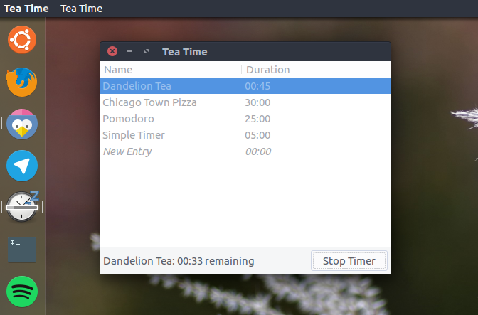 tea timer app for ubuntu unity