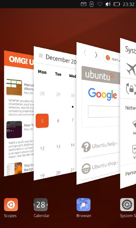Ubuntu Phone Task Switcher