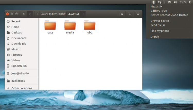 kde connect indicator on ubuntu