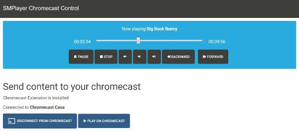 emplayer chromecast control