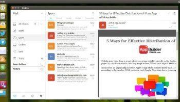 the dekko email client snap app