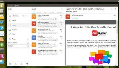 the dekko email client snap app
