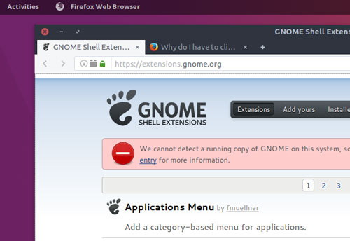 gnome-extensions-not-detected