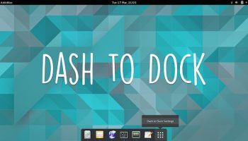 a screenshot of dash to dock on ubuntu linux
