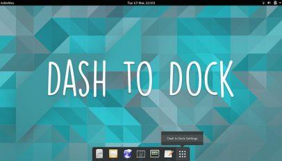 a screenshot of dash to dock on ubuntu linux