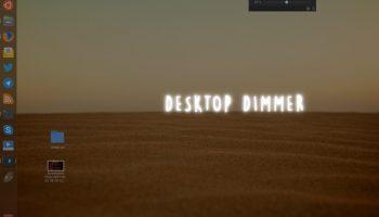 desktop dimmer on ubuntu