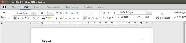 libreoffice 5.3 notebookbar