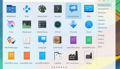 plasma simple menu for KDE