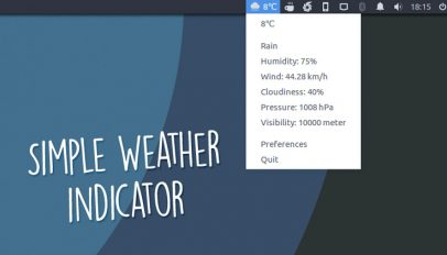 simple weather indicator applet
