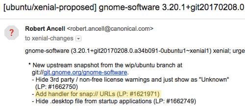 ubuntu software changelog