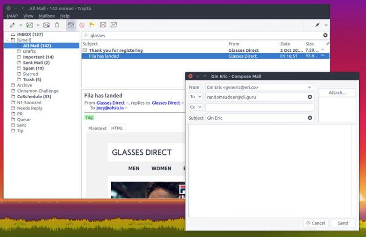 trojita qt email client