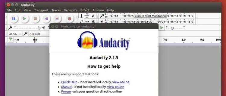audacity on ubuntu