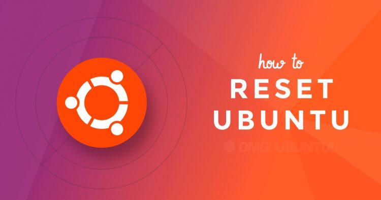 reset ubuntu
