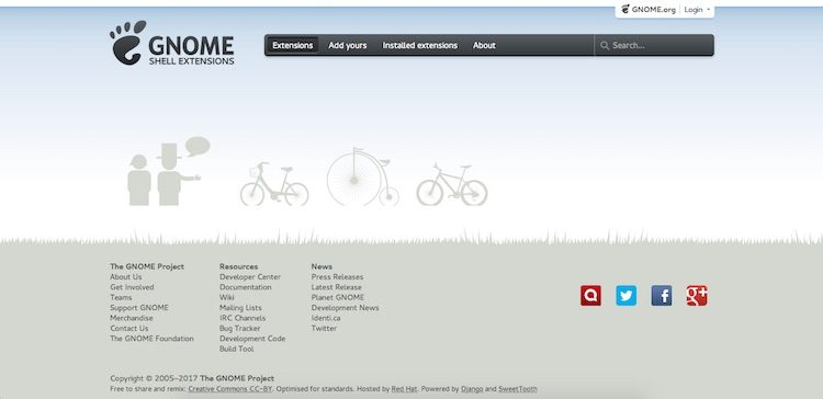 gnome extension website old design
