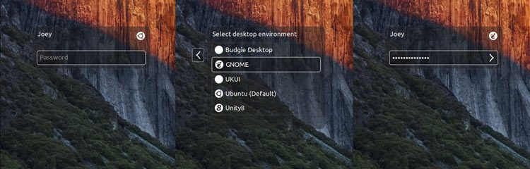 a screenshot of the login screen on ubuntu 16.04