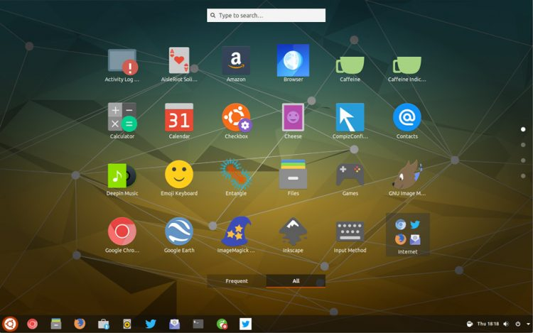 applications overview in gnome shell