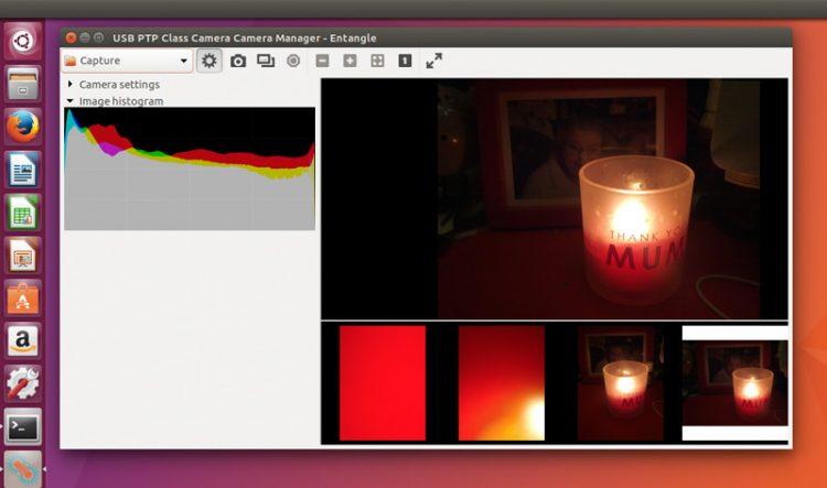 Entangle photo app on Ubuntu