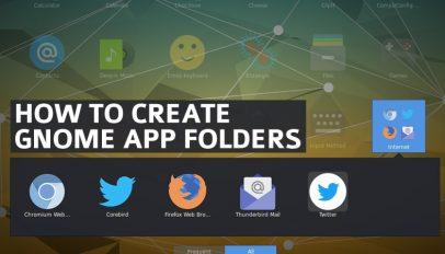 create and add gnome app folders