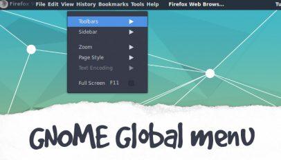 gnome global menu extension