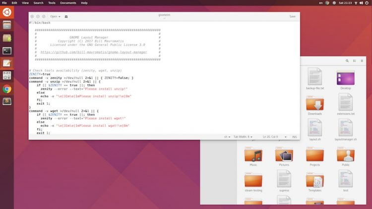 GNOME Shell Unity Look