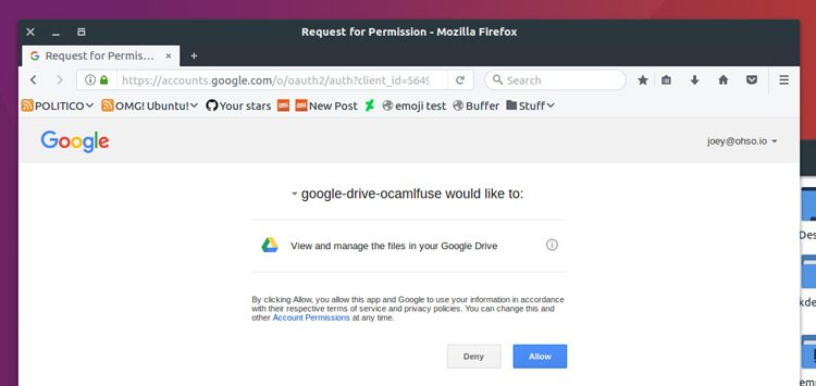 Mount Your Google Drive on Linux with google-drive-ocamlfuse