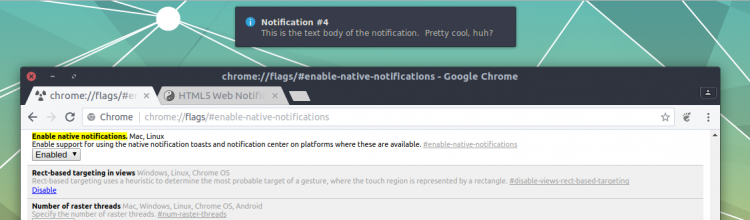 native chrome notification on gnome shell