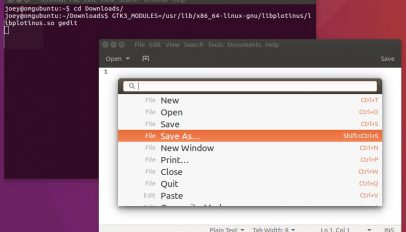 plotinus is a command palette app for GTK