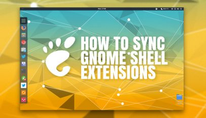 how to sync GNOME Shell extensions