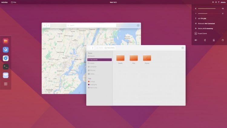 Ubuntu GNOME Shell mockup