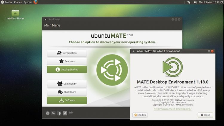 ubuntu MATE 17.04 desktop screenshot