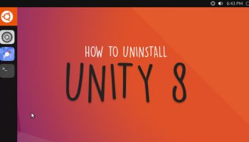 uninstall unity 8