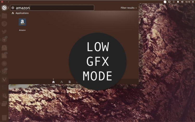 low graphics mode unity 7