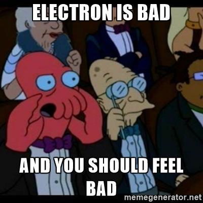 electron is bad meme