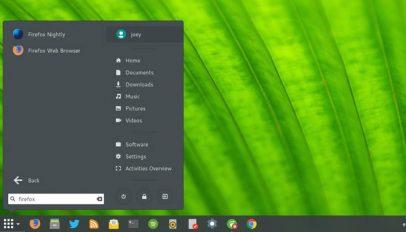 arc menu - an applications menu for GNOME Shell