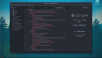 the atom text editor snap app on ubuntu 17.04