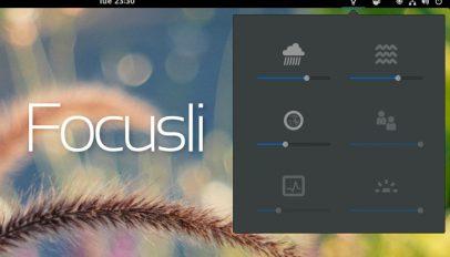 focusli sound extension for GNOME