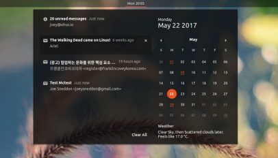 gmail notifications in GNOME Shell