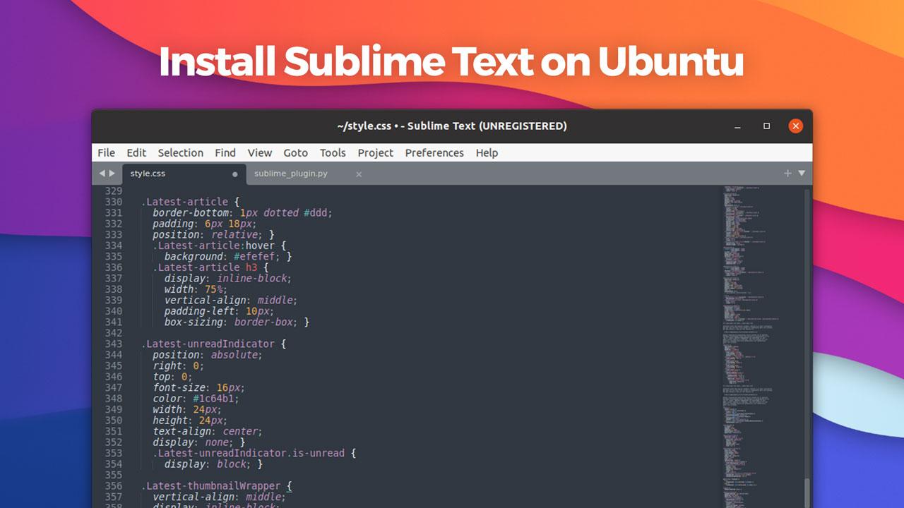 install sublime text on ubuntu linux