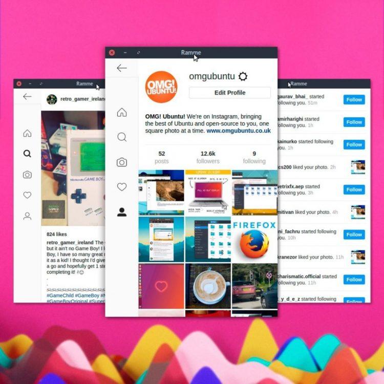 ramme instagram app