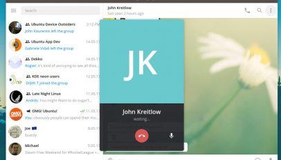 telegram desktop calling