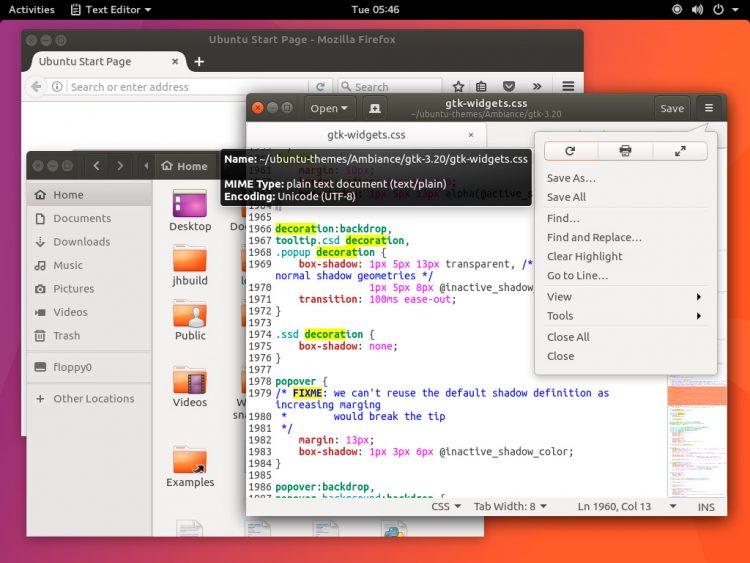 ambiance gtk theme on ubuntu gnome desktop