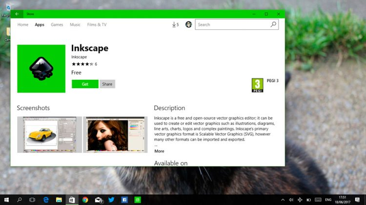 inkscape on the windows store