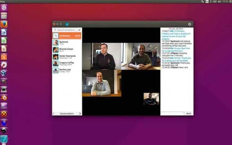 ring linux client on ubuntu desktop