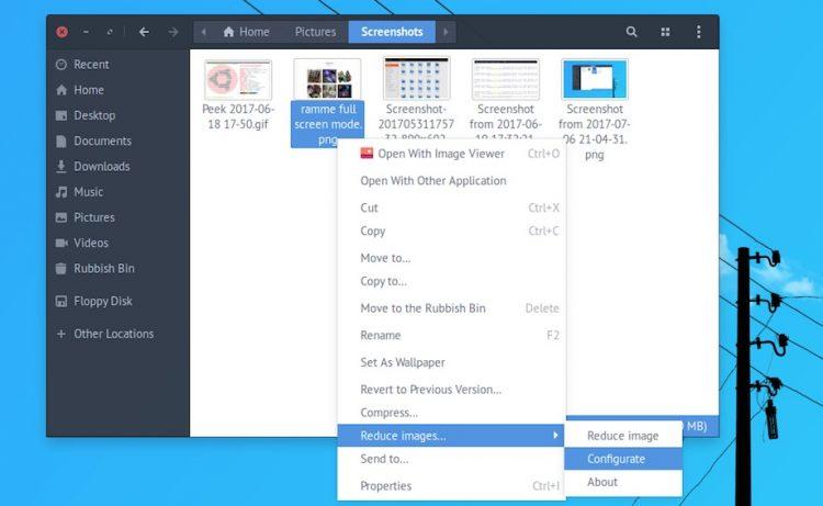 nautilus script to reduce image size quality