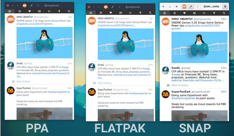 flatpak vs snap theming