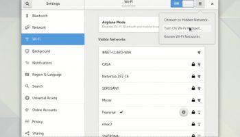 GNOME's new look wifi settings