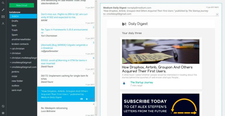 kube email client